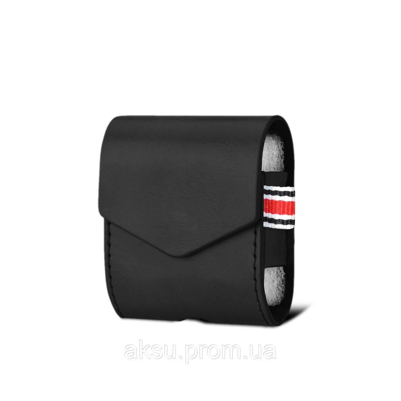 Чехол для AirPods Leather Case на наушники AirPods (Black)