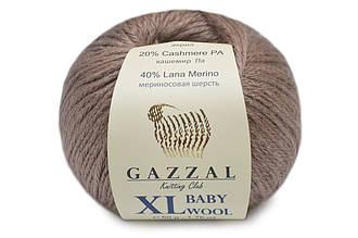 Gazzal Baby Wool XL, Кофе с молоком №835