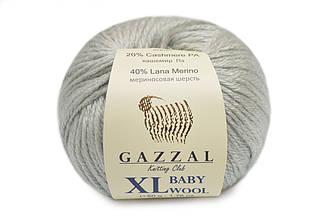 Gazzal Baby Wool XL, Светло серый №817