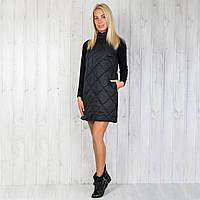 """Женское тёплое стёганое платье """"Шанель"""" размеры 40-42 недорого от производителя ."""