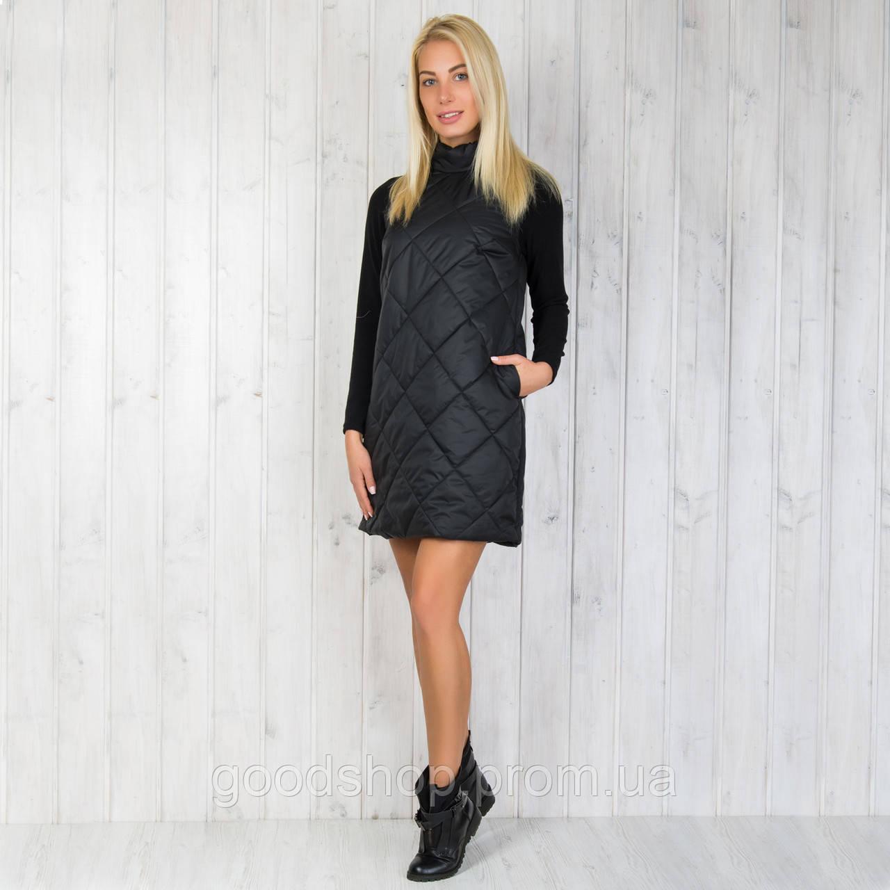 4fb6576e4c8 Женское тёплое стёганое платье. - интернет-магазин GoodShop в Одессе