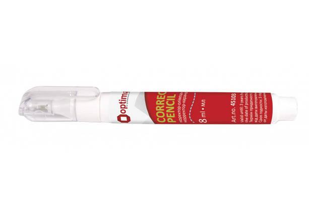 "Корректор-ручка ""Optima"" металл. након. 8мл O45103, фото 2"