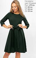 Женское расклешенное платье с бантом (3300 lp)