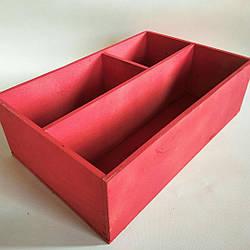 Ящик для декора красный