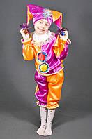 Детский карнавальный костюм АРЛЕКИН СКОМОРОХ ШУТ на 2,3,4,5,6,7 лет новогодний маскарадный костюм СКОМОРОХА