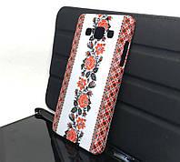 Чехол накладка для Samsung A5 2015, A500 на заднюю панель Вишиванка