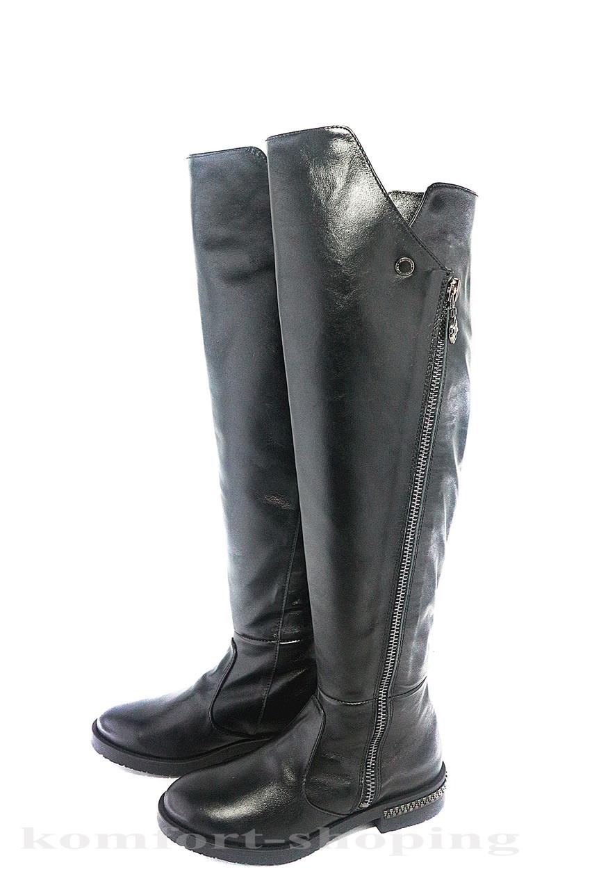 0103591e378e Женские ботфорты зимние, кожаные, черные V 1163 1, цена 1 560 грн ...