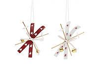 Новогоднее украшение-подвеска Лыжи 13см, 2 вида BonaDi 785-502