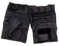 Тактические кожаные беспалые перчатки MFH