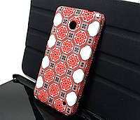 Чехол накладка на заднюю панель Вишивка для Nokia Lumia 630, 635