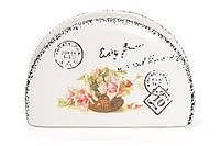 Салфетница керамическая Провансальская Роза BonaDi 935-104