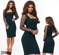 836dd2b5134 Вечернее платье по колено цвет бутылка 825825