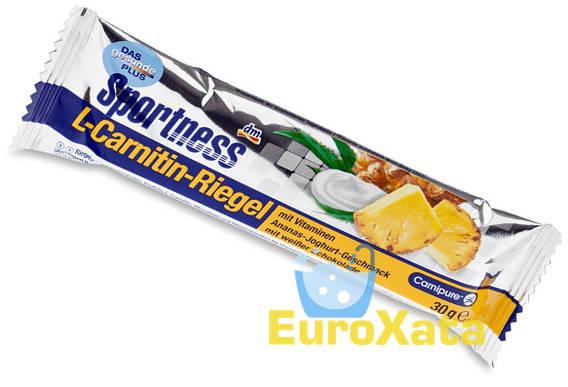 Энергетический батончик Sportness (ананас, йогурт) с L-карнитином (35 г) Германия
