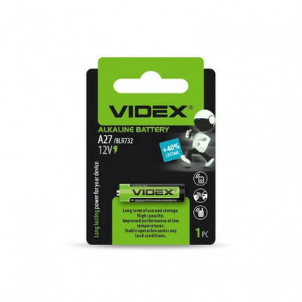 Videx Батарейка щелочная А27, фото 2