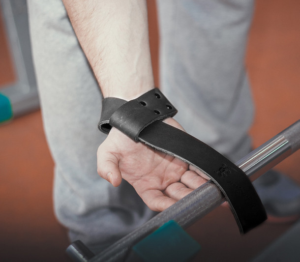 Лямки атлетичні шкіряні для тяги штанги і турніка, важкої атлетики та залу.