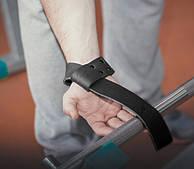 Лямки атлетические кожаные для тяги штанги и турника, тяжелой атлетики и зала.