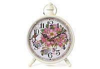 Часы настольные металлические ретро Пионы BonaDi 412-413