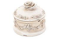 Шкатулка Роза 10см, цвет - белый антик BonaDi 440-159