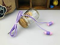 Наушники с микрофоном (гарнитура) Ienjoy IN-083 фиолетовый, фото 1