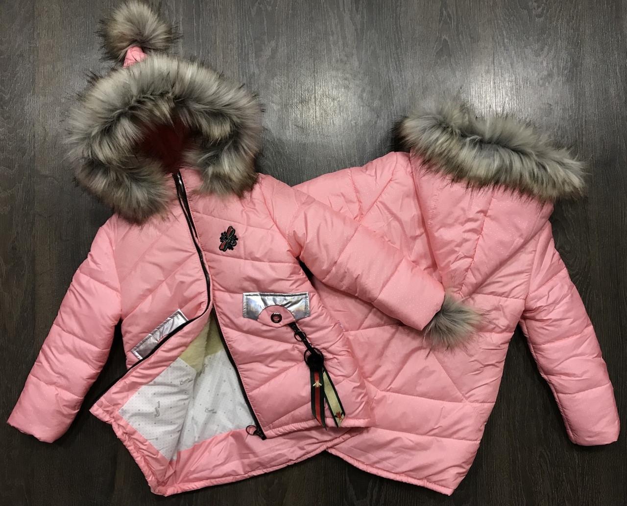 Стильная зимняя курточка-парка с капюшоном-колпаком