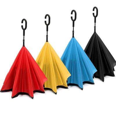 Зонт Наоборот Up-Brella однотонный + чехол Зонт обратного сложения umbrella