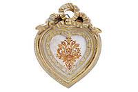 Украшение-подвеска Рамка для фото Сердце 12.5см, цвет - состаренное золото BonaDi 440-152