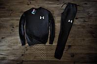 Мужской спортивный костюм Зимний с флисом черный Under Armour #3 Реплика
