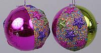 Елочный шар с декором 8см, 2 вида BonaDi NY21-128