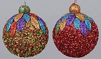Елочный шар с декором 8см, 2 вида BonaDi NY21-129