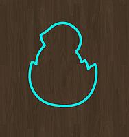 Вырубка кондитерская для пряника мастики марципана ципленок в яйце  (0030) 8*8 см