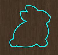 Вырубка кондитерская для пряника мастики марципана кролик  зайка (0040) 8*8 см