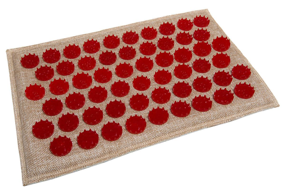 Коврик массажный аккупунктурный (аппликатор, иппликатор) Lounge mini 32х21 см, красные фишки