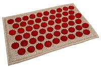 Коврик массажный аккупунктурный (аппликатор, иппликатор) Lounge mini 32х21 см, красные фишки, фото 1