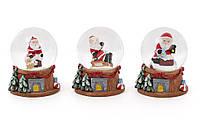 Декоративный водяной шар Санта 6.3см, 3 вида BonaDi 129-011