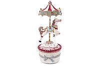 Декоративная музыкальная карусель с лошадкой на заводном механизме, 25см BonaDi 838-158