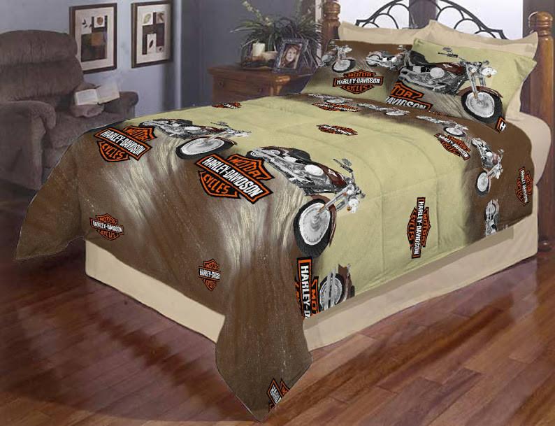 Детское постельное белье полуторный размер «Мотоцикл Харли Девидсон»
