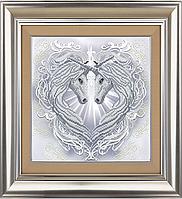 Схема для вышивки бисером Две души -одно сердце