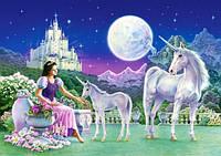 Пазлы 120 Принцесса с Единорогами