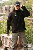 Теплая флисовая куртка с капюшоном