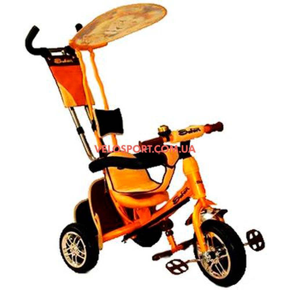 Детский трехколесный велосипед Azimut Safari EVA оранжевый