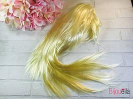 Маскарадний перуку блондинки прямий 120 гр, 57 см на карнавали і Хелловін
