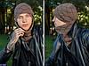 Мужская шапка с шарфом Комлект бали Подкладка : полар (микрофлис) по всей длине изделия Размер: 55-59, фото 3