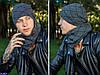 Мужская шапка с шарфом Комлект бали Подкладка : полар (микрофлис) по всей длине изделия Размер: 55-59, фото 4