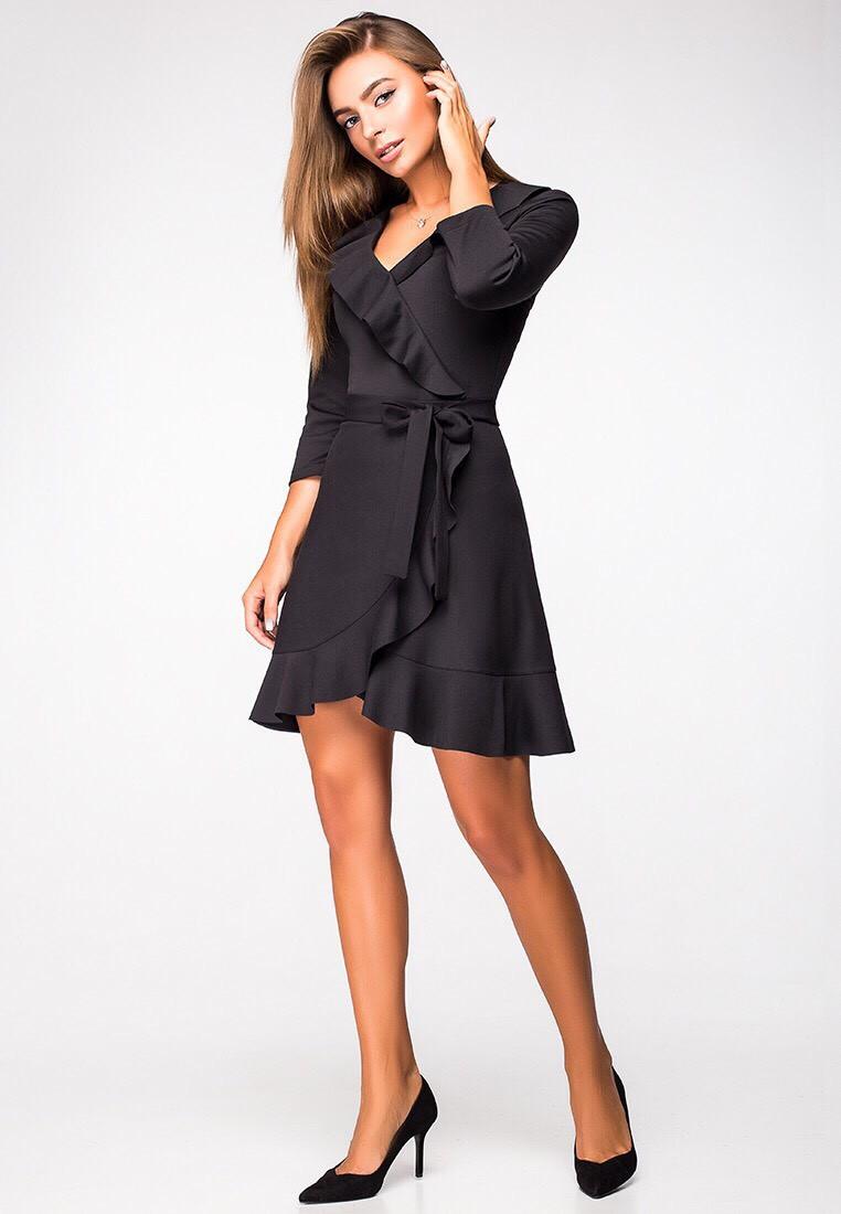1cbb364336e Платье на запах с воланами - Интернет-магазин