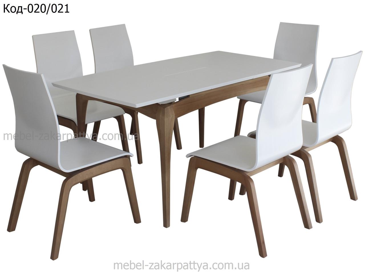 Комплект стол и стулья на кухню Код-020/021