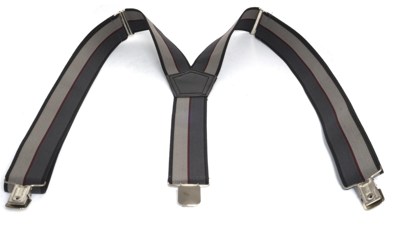 Мужские подтяжки-резинка У образные (103682) серый со светло серым