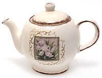 Чайник заварочный керамический 1260мл Розовый ирис BonaDi DK488-R