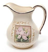 Кувшин керамический 1280мл Розовый ирис BonaDi DK516-R