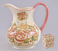 Кувшин керамический 1.2л Розы BonaDi QF877-R