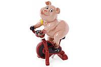 Декоративная статуэтка Свинка на велотренажере, 21см BonaDi 238-700